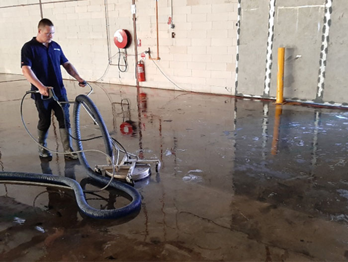 Warehouse pressure cleaning